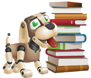 puppy stack books