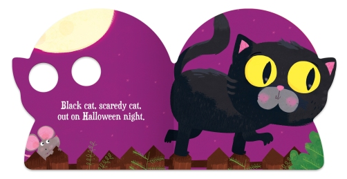 """Black cat, scaredy cat,"""