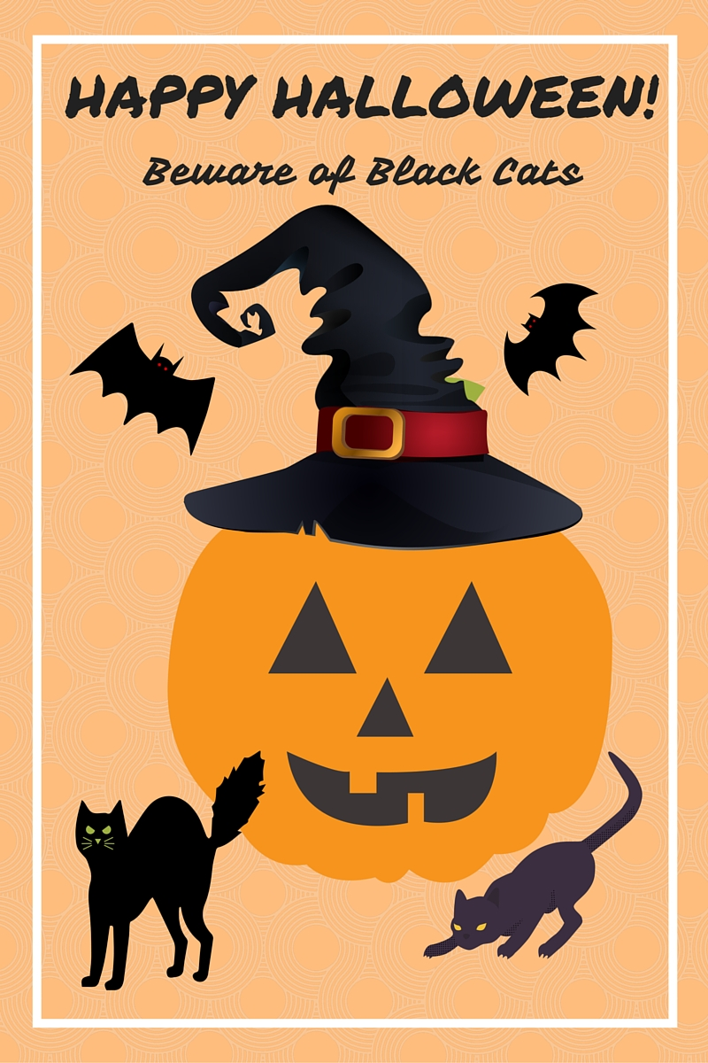 happy  halloween beware of black cats