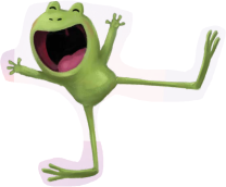 cheerful frog