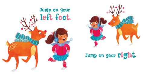 Move those hooves and dance and prance like a reindeer in this interactive holiday board book. Fresh art and rhyming text will inspire both children and adults to get up and move during the cold winter days!